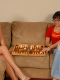 Nerdy Babes Kitten Sexton & Angelina Korrs Fuck Each Others Tight Pussy 01