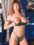 Sexy Big Breasted Redhead MILF Toys Her Furry Twat 02