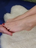 Cute Amateur Blonde Gives a Hot Footjob with Cumshot 04