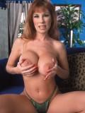Sexy Big Breasted Redhead MILF Toys Her Furry Twat 04
