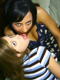 Hot Teens Nicole Ray and Veronique Vega Playing Together in Bed 04