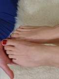 Cute Amateur Blonde Gives a Hot Footjob with Cumshot 05
