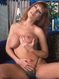 Sexy Big Breasted Redhead MILF Toys Her Furry Twat 05