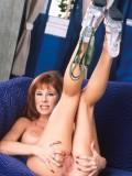 Sexy Big Breasted Redhead MILF Toys Her Furry Twat 09