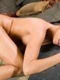 Ashley Jensen Feeling Naughty in Sexy Lingerie 13