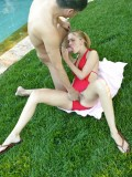 Petite Blonde Teen Michelle Honeywell Gets Fucked by the Pool 04
