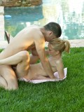 Petite Blonde Teen Michelle Honeywell Gets Fucked by the Pool 08
