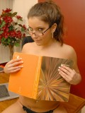 Four Eyed Coed Tiffany Summers Strips Nude in Study Hall 08